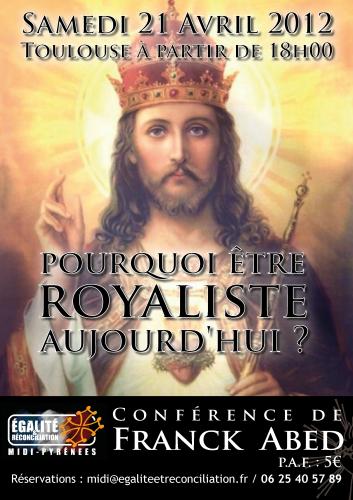 E&R,Midi-Pyrénées,Conférence,ABEd,royalisme